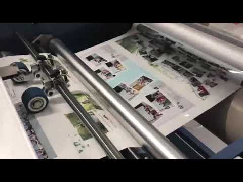 SFML-720 semi automatique 25m/Min Bopp Film Laminating Machine